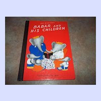Book Babar and His Children Jean De Brunhoff