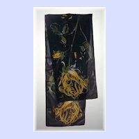 Vintage Designer Signed Delicate Sheer Scarf by Vera Neumann
