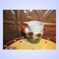 Sweet Novelty Ceramic Hand Painted Hen Egg Cup Japan
