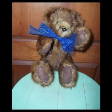 Looking For A Forever Home Jointed Real Muskrat Fur Teddy Bear Named  Puddin