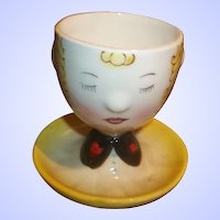 Collectible Novelty Figural  Ceramic Large Goose  Egg Cup Japan