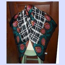 A Lovely Large Diane Von Diane von Furstenberg 100 % Silk Scarf Wearable ART