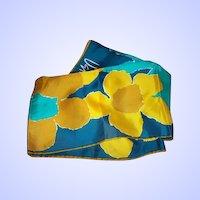Pretty Vintage Designer Signed  Vera Neumann Signed Mod Floral Pattern  Scarf