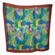 A Splash of Colors  100 % Reine Seide  Silk Scarf  Large Wearable ART