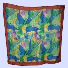 A Splash of Colors  100 % Reine Seide  Silk Scarf  Large Wearable ART