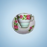 Rose Floral Tea Cup  / Teacup Saucer Colclough Bone China MIE