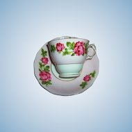 Rose Floral Tea Cup  / Teacup Saucer Colclough Bone China MIE