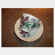 Vintage Flower Leaf Tea Cup and  Saucer  Set Royal Vale