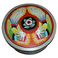 Vintage Advertising Cookie Biscuit  Tin for Peek Frean  Bird Motif