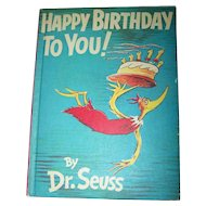 Children's Book Dr. Seuss Happy Birthday to You !