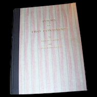 "Poetry Book Titled "" Poems of Two Continents  "" Groom, Bernard  I. Sutherland Groom"