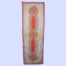 Vintage Designer Signed Vera Neumann POP Abstract  Silk Scarf