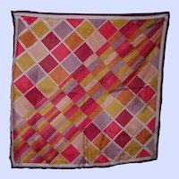 Vintage Colorful Triangle Brand Geometric Ladies Fashion  Silk Scarf