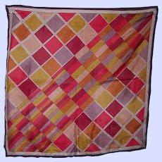 Vintage Colorful Triangle Brand Geometric Ladies Fashion  Silk Scarf