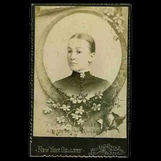 Sentimental Sepia Mourning Photograph Young Lady Flowers That Bloom in the Spring