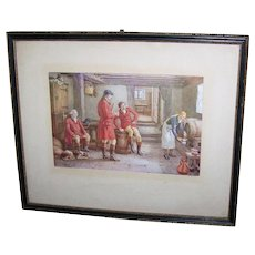 Vintage Collectible Framed Print by Frank DADD 1924