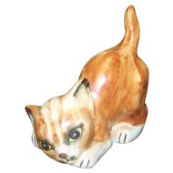 C. 1978 Seymour Mann  Collectible Ceramic Tabby Kitty Cat Figurine