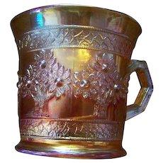 Fenton Marigold Carnival Glass  Orange Tree Mug