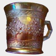 A Vintage Fenton Marigold Carnival Glass  Orange Tree Mug