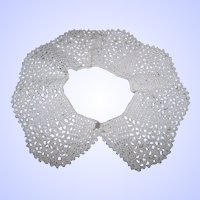 Vintage Hand Crochet Collar So Pretty