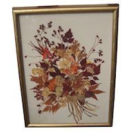 Vintage Framed Dried Flowers By Hennrietta Brownie Strong