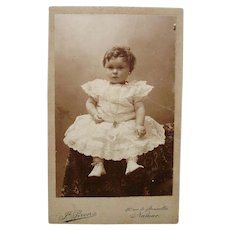 Charming Carte de Visite CDV  Little Girl Lace Dress