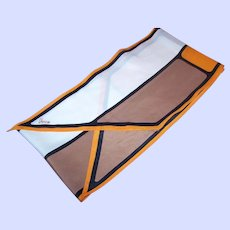Designer Signed Vera Neumann Scarf Long Rectangle Wing Tip Geometric Pattern