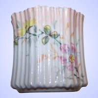 Double Crown Germany Delicate Hand Painted Toothpick Holder
