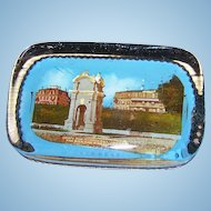 Vintage Novelty Souvenir  Glass Paper Weight  A.S. Burbank Plymouth MASS.