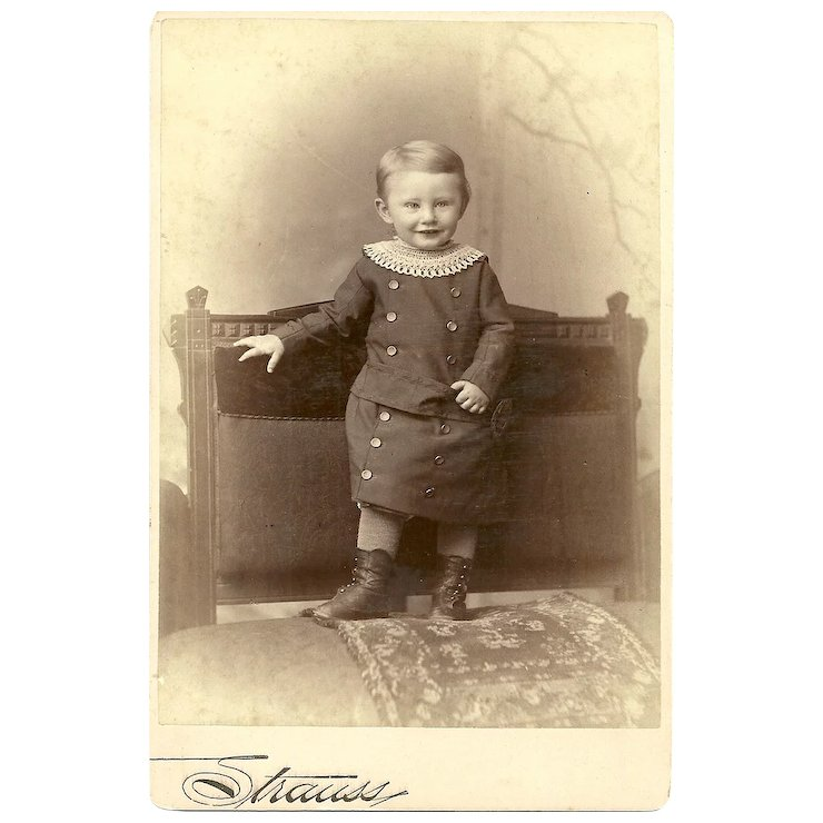 Charming CDV Carte De Visite Little Boy In Outfit Victorias Purrrrfect Treasures