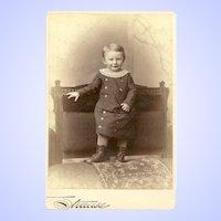 Charming CDV Carte De Visite Little Boy In Outfit