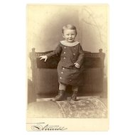 Charming CDV Carte De Visite Little Boy In Outfit