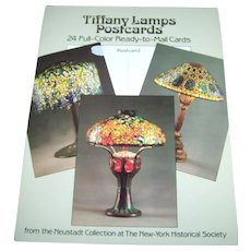 Tiffany Lamps Postcards Booklet 24 Full Color Ready to Mail