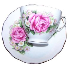 Oh What A  Pretty Royal Vale Rose Mixed Floral Tea Cup Saucer Set