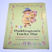 Children's Book Paddington's Lucky Day C. 1974