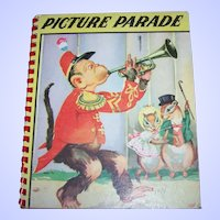 Unusual Rare Old Children's Book Picture Parade  Real Animals