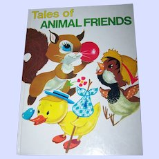 """Children's Book Oversized """" Tales of Animal Friends """""""