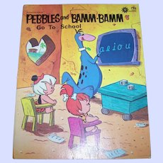 Soft Cover Booklet Book Pebbles and Bamm Bamm Go To School