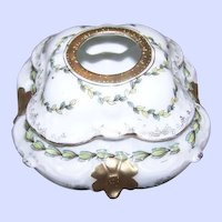 A Collectible Porcelain Vanity Treasure Hair Receiver R S Prussia