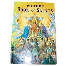 Vintage Hard Bound Book Picture Book of Saints C. 1979