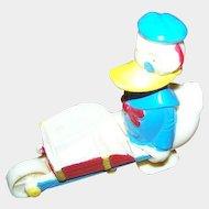 Collectible Vintage Novelty Donald Duck Wheel Barrow Ramp Walker