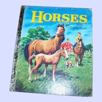 A Charming Vintage Children's Book Horses A Little Golden Book #202-2