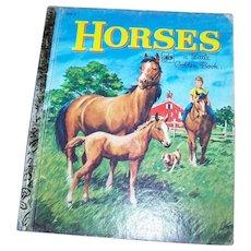 A Charming Vintage Children's Book Horses A Little Golden Book #202-2
