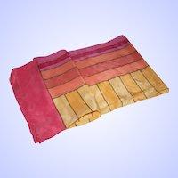 A Geometric Stripe  Themed Vintage Ladies Fashion Accessory Scarf
