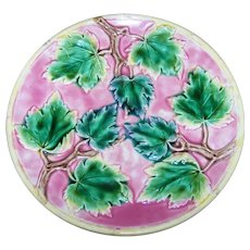 Vintage Collectible Majolica Leaves Plate Griffin Smith and Hill Home Decor Accent