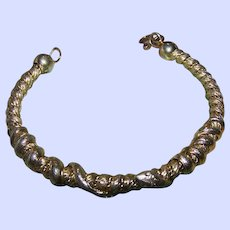 Twisted Coiled Double Snake Bangle Bracelet
