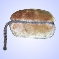 A Charming Vintage Children's Plush Faux Fur MUFF