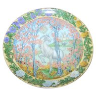 Hutschenreuther Germany Collector Plate Unicorn Enchanted Seasons