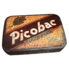 Canadiana Advertising Picobac Tobacco Tin Box With Striker
