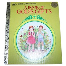 A Charming Vintage Book of God's Gifts by Ruth Hannon C. 1979